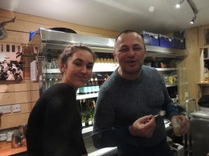 Olivier, the owner of Zinc with a waitress