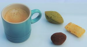 Embrace the coffee bean with an espresso and a petit four