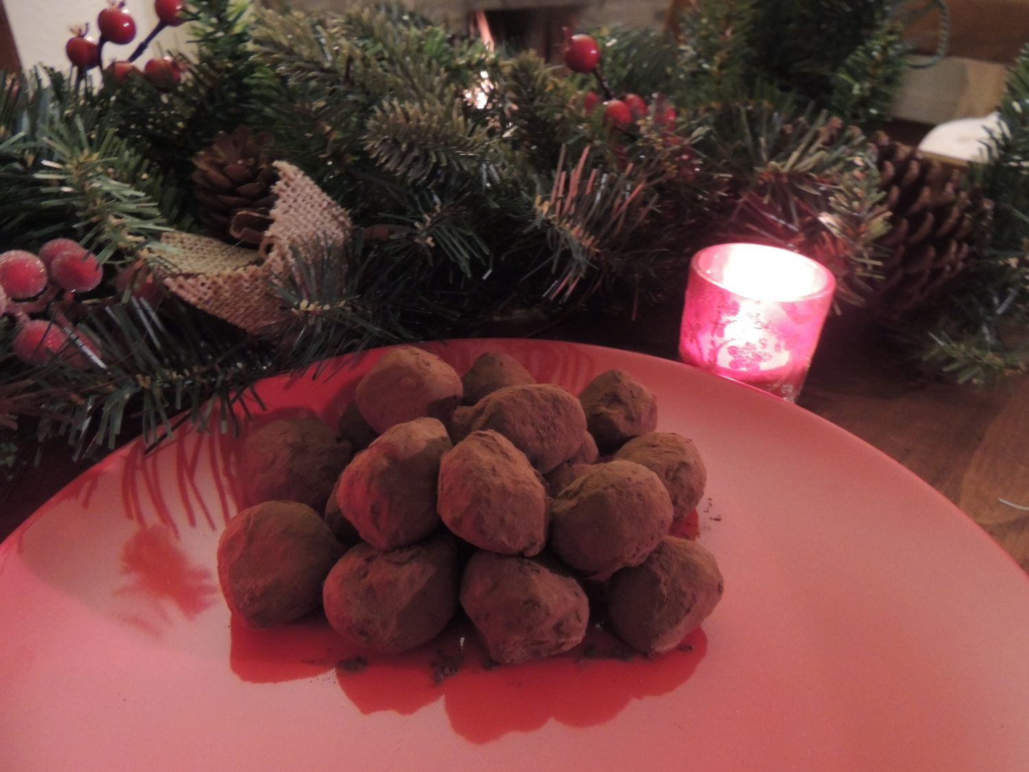 Chocolate and blackberry truffles with Brontë Liqueur
