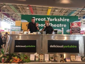 Yves demonstrating at the Great Yorkshire Show