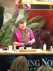 Demonstrating a festive feast at Living North Christmas Fair